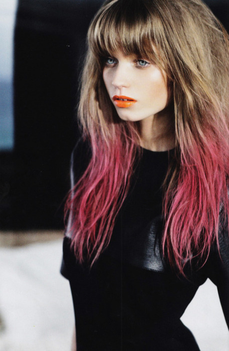 ombre pink hair colors 2012
