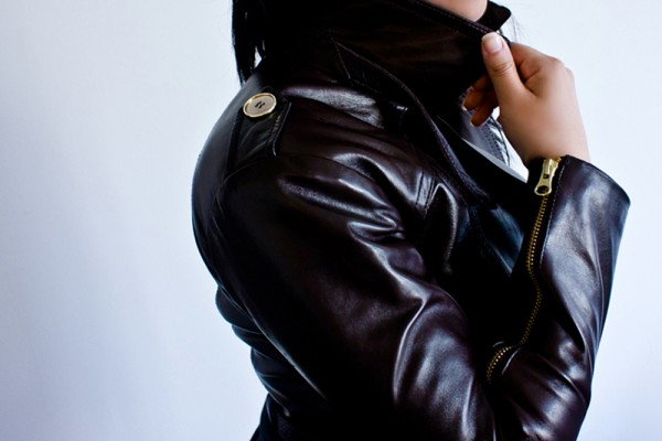 Petite Leather Moto Jacket details THE 16TH BAR